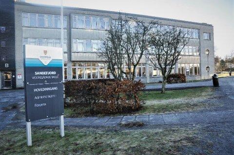 SMITTE: En elev ved Sandefjord videregående skole er koronasmittet.