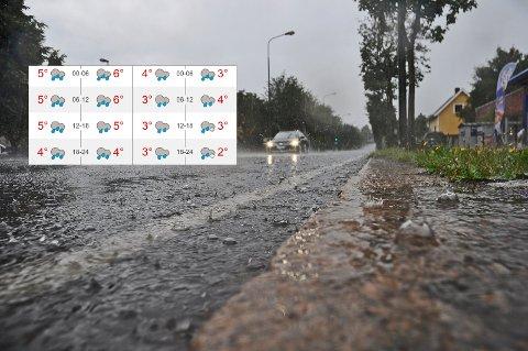 IKKE AKKURAT JULESTEMNING: Etter tre dager med kaldere og klarere vær, bærer det tilbake til regn og gråvær fra 2. juledag av.