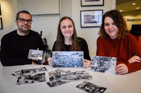 ØNSKER DINE BILDER: - Hvis du har bilder fra 1920 og fram til vårt århundre fra Larvik, så kom innom oss. Vi er interessert i bilder som viser livet i Larvik i vår nære fortid, sier Aleksander Vågen Oxholm, Åshild Rybråten og Maria Kolstad Johannessen i Larvik Museum.
