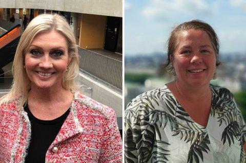 REKTORER: Trude Cecilie Hasle og Trine Bålsrød Vik har fått rektor-jobb på henholdsvis Hedrum ungdomsskole og Fagerli Skole. (arkivfoto)