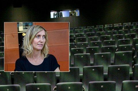 KINOÅPNING: Kinosjef Anne Marte Espeseth gleder seg til at folk igjen kan innta kinosalene i Bølgen etter flere uker med et meget redusert tilbud. (arkivfoto)