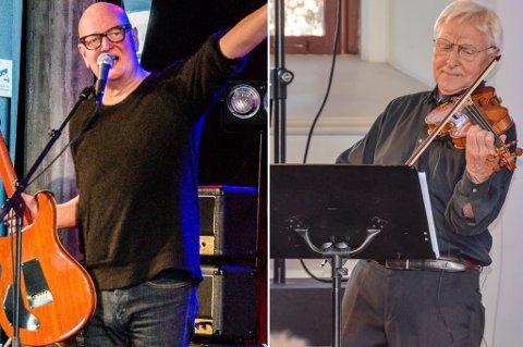 MORSOMT MØTE: Rock- og jazzmusiker Frode Alnæs møter blant annet fiolinist Arve Tellefsen til musikalsk dyst i Larvik kirken i juli.
