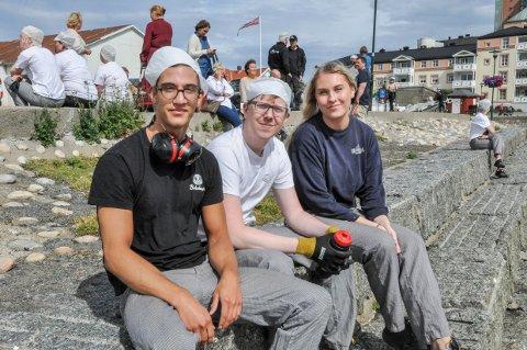 EVAKUERT: Fra venstre Rade Novakovic, Øystein Nilsson og Karoline Kroken.