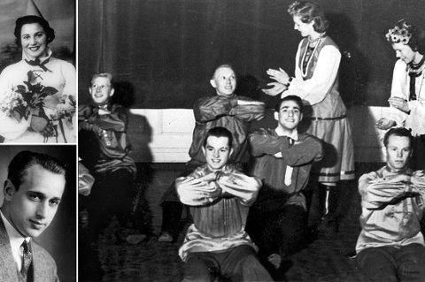 LYKKELIG FØRKRIGSTID: Den jødiske Sachnowitz-familien i Larvik gjorde seg sterkt gjeldende i Larviks kulturliv før krigen. I midten på det store bildet ser vi Herman utfolde seg i kosakkdans på scenen i Festiviteten. Habil på trumpet var han også. Den eldre broren, Martin, på bildet til venstre, trakterte flere instrumenter og ledet dessuten et jazzband. Nydelige Marie på bildet over Martin opptrer her som en av ternene til «Bøkeskog-prinsessen» (Gerd Grimstad). Men framfor alt var hun beundret som hele byens sangfugl.  Sachnowitzene var også aktive i Larvik Sjakklubb. Men så kom krigen! Og da ble hele familien deportert til nazistenes dødsleire, der bare Herman overlevde. Han fikk plass som trumpetist i leirorkestret, der han måtte sitte og spille tyskpatriotisk musikk, mens alle hans kjære (far og syv søsken) ble likvidert en etter en.  Fra Per Nyhus: larvikhistorier.no.