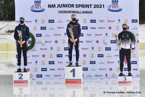 Sølv-gutt: Kasper Tveter fra Tjølling tok sølv under helgens NM for juniorer i Trondheim. Gullet gikk til Peder Kongshaug, mens Sondre Åsebø tok bronsen.