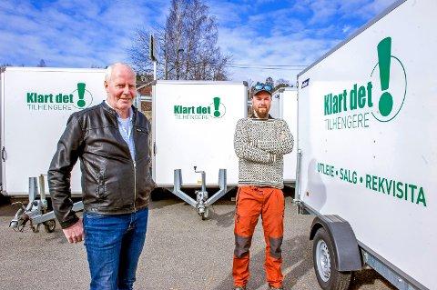 KLART DET!: Ole Johan Stensrud, til venstre, og Morten S. Aasland mener det aller viktigste er å leve opp til firmanavnet. Service og kundebehandling setter de svært høyt.