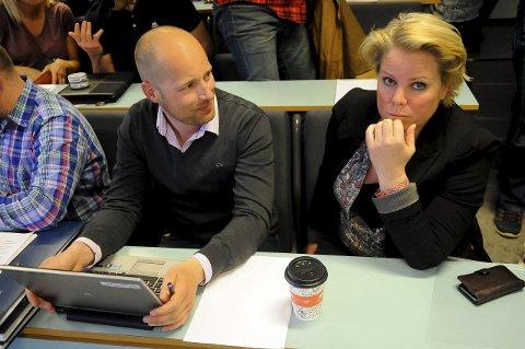 ALvORLIG: Kristian Druglimo (t.h.) og Tonje Nohr Smedstad i det avtroppende styret i EHH, understreker at situasjonen i klubben er alvorlig.  Foto: Wenche Norberg-Schulz