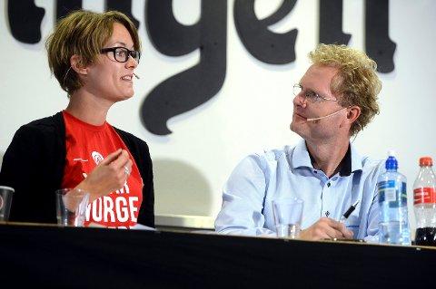 SVÆRT UENIGE: Stortingsrepresentantene Anette Trettebergstuen (Ap) og Tor André Johnsen (Frp) er svært uenige om hvilke tiltak som legger forholdene best til rette for næringsutviklingen i distriktene. (Foto: Anita Høiby Gotehus)