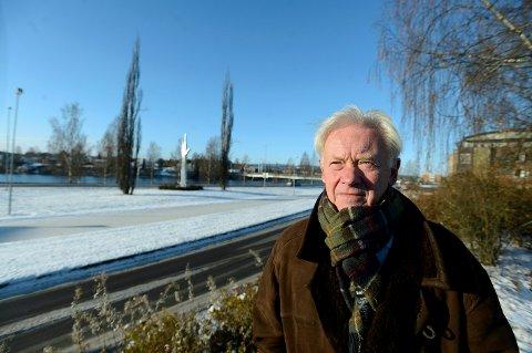 UTVIKLE: – Alternativ 2 vil gi mulighet til å utvikle denne delen av Leiret og bringe byen nærmer eleva, sier Arne Røhne.