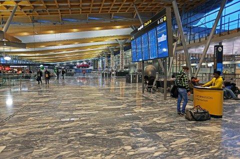 STENGER: Det blir stille på Oslo lufthavn mellom kl 15.00 julaften og kl 11.00 1. juledag. (Foto: Oslo lufthavn/ANB)