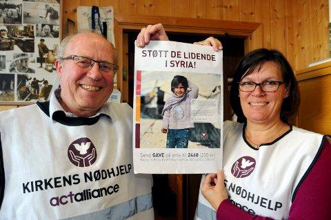 GOD HJELPERE: Rannveif Østertun Homlong i Våler er en av Melbys gode hjelpere til aksjonene i Solør.