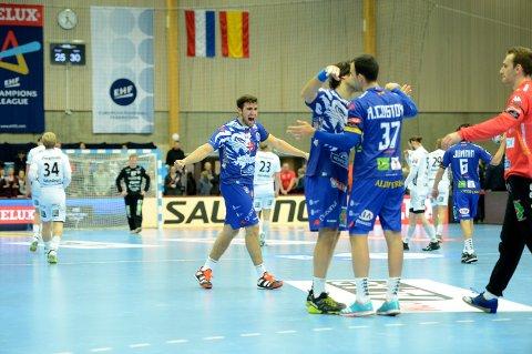 SPANSK JUBEL: Ademar Léon jublet for seier i Terningen Arena.