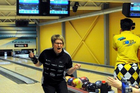 OPPRYKK: Anita Meiningen spilte nok en gang meget bra og bidro sterkt til at Solør BK er klare for damenes eliteserie.