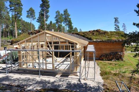 NYTT: Byggingen har startet i Blokkodden. (Foto: Knut Nerhagen)