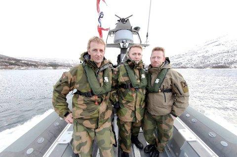 SJEF: Brigader Eirik Johan Kristoffersen (til venstre) er Heimevernets nye sjef. (Foto: Ragnar Bøifot, fremover.no)