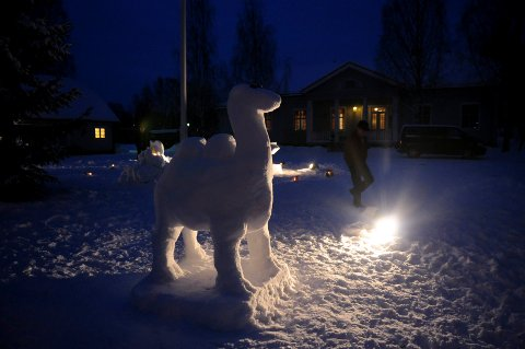 VIKTIG: Snøskulpturparken har vært en viktig del av vinterfesten i Våler.