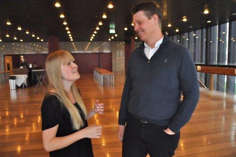 SAMSTEMTE: Festivalsjef Stine Haugen i Volumfestivalen og leder for Ung på Festspillene, Arild Askeland, er glade for å endelig kunne lansere et samarbeidsprosjekt med og om klassisk musikk.