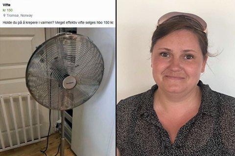 TIL SALGS: Aina Bjørnebakk la ut denne posten på Facebook-gruppa Kjøp og Salg i Tromsø. Der fikk den bein å gå på. Foto: Skjermdump/Privat
