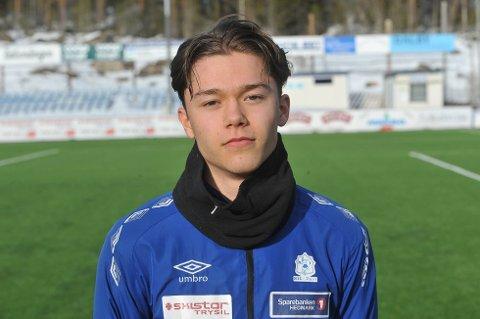 SCORET: Isak Løvlund scoret sundingenes mål lørdag.