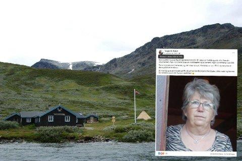 REDNINGSAKSJON: Jane Sommerstad og venninnen skulle gå fra Torfinnsbu (bildet) til Fondsbu. Turen endte med redningsaksjon og tap av verdisaker, nå får hun sakene sine tilbake.