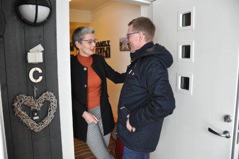 ALLTID VELKOMMEN: Jon Kristiansen (54) gleder seg alltid til å besøke kona Kari Elisabet Bekken (51). De er blant parene som er gift og har valgt særbo framfor sambo.