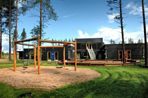 FOLKETOMT: Alle lekeplasser, som denne ved Terningen barnehage, skateparken og alle idrettsanlegg i Elverum er nå forbudt område.