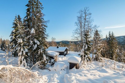 VINTERIDYLL: Slik ser vinteridyllen som nå er solgt i Gravberget, ut.