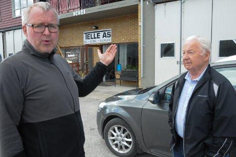 KRITISKE: Steinar Kjeka i Telle AS (til venstre) og tidligere ordfører og tiltakssjef Steinar Berget i Rendalen  er langt fra fornøyd med næringsutviklingen til Rendalen kommune.