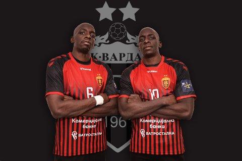 INN PÅ TAMPEN: De franske tvillingbrødrene Kevin og Olivier Lokas sluttet seg til Vardar-troppen så sent som mandag denne uken. De er med til Elverum, der makedonerne er ute etter begge poengene.