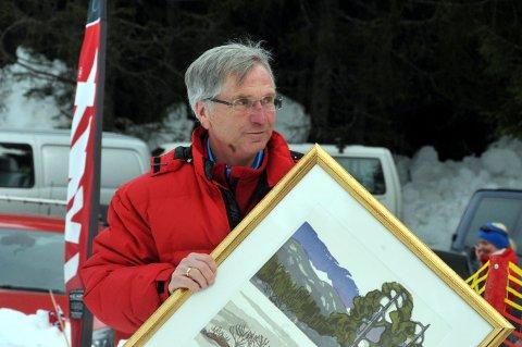 HEDRET: Arnfinn Kalfoss (74), som døde mandag, hedres for sitt store idrettsengasjement.
