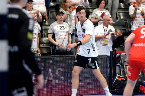 Kasper Thorsen Lien spilte en meget god kamp for Elverum og ble kampens toppscorer med seks kasser.