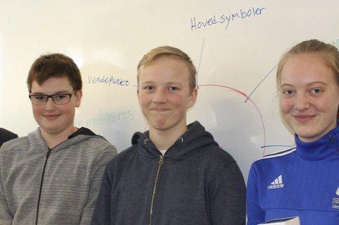 VINNERE: Ingrid Kvitnes, Torjus Isaksen Kleiv og Eirik Vinje Olsen vant Abelgøy.