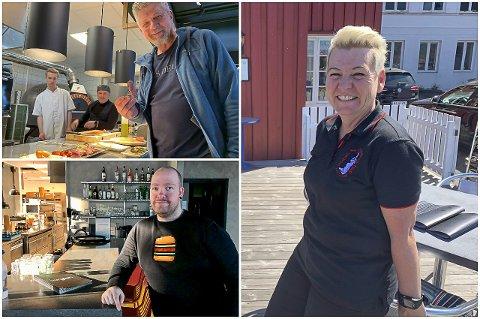 FORSIKTIGE OPTIMISTER: Robert Lind på Øya Spiseri og Café Osebro, Burglar-sjef Harald Taraldlien og Hege Skilbred på Michel Seylmager's hus.