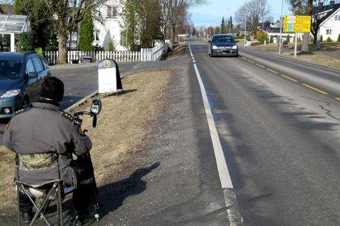 UTSATT STREKNING: 50-sonen ved Haldenveien er den strekningen i Rakkestad hvor flest bryter loven.