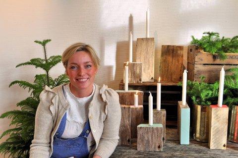 Inspirerte: Stine Bjørnstads Fru Blom fotalte om hvordan hun tar i bruk hele gården. Hun nevnte at hun fikk like mye for en lysestake som faren fikk for 3 vedsekker. Arkivfoto
