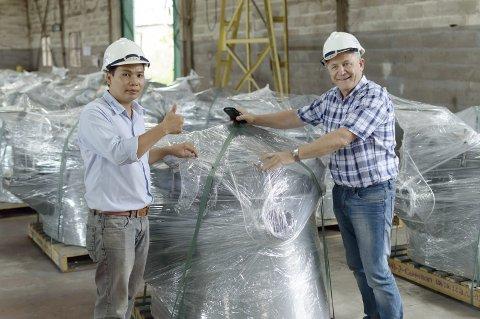GODT I GANG: Slåttland er allerede godt i gang med første leveransen ved sine produksjonslokaler i Vietnam.