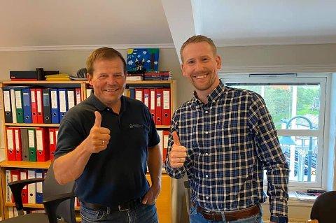 Samarbeidsavtale: Daglig leder Jarle Gabestad i Degernes landbrukslag og regionsjef Thomas Erik Sande i YX Norge region øst.