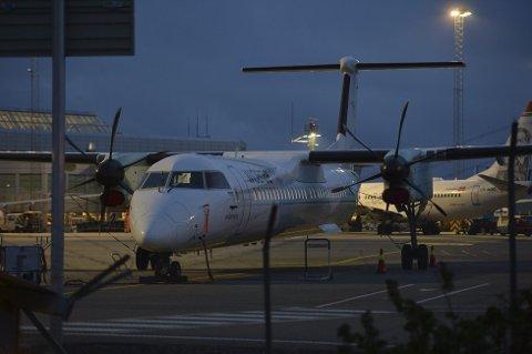 30 passasjerer ble evakuert på Flesland fredag kveld.