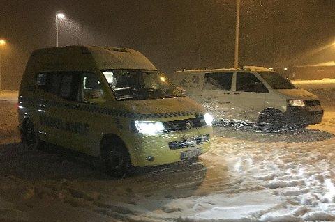 Det var snøvær og glatt på veiene der kollisjonen skjedde. (Foto: Øyvind A. Olsen)