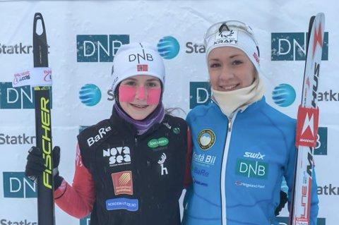 Skiskytterne Marthe Kråkstad Jonansen (t.v.), B&Y IL, og Emilie Ågheim Kalkenberg, Skonseng UL, har begge hatt strålende resultater internasjonalt i år. De er de to eneste jentene som er nominert til årets idrettsnavn, men klarer de å hamle opp med guttene? Din stemme kan avgjøre...