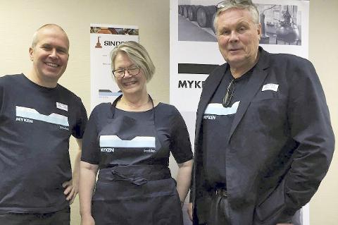 I hoved-staden: Roar Larsen, Kerstin Marthinsen og Erik Drengsrud  har vært på whiskyfestival i Oslo.