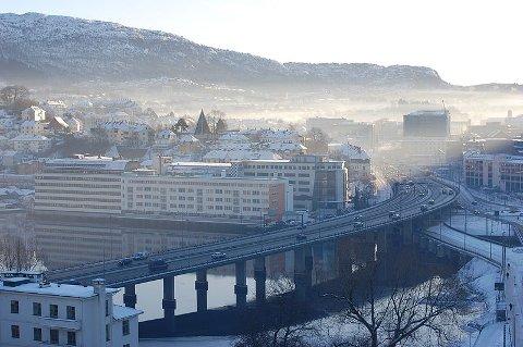 Illustrasjonsfoto fra et forurenset Bergen.