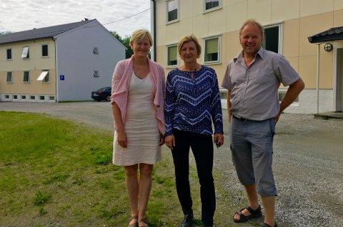 Direktør for Nord studentsamskipnad Bente Sofie Larsen, ordfører i Nesna Hanne Davidsen og rådmann i Nesna Geir Sakariassen.