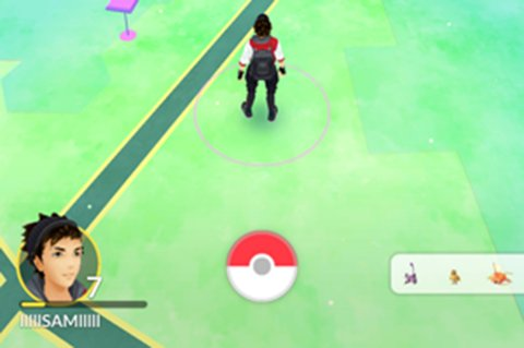 Skjermbilde av Pokémon Go.