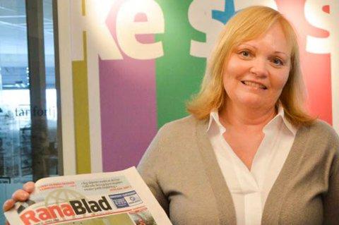 Konstituert sjefredaktør i Rana Blad, Marit Ulriksen, er fornøyd med de siste lesertallene.