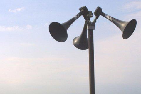 Sivilforsvaret har 1250 slike tyfonanlegg i Norge. Onsdag testes samlige.