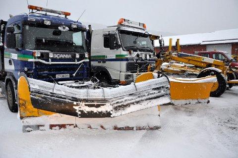 Snømengden som kom etter at kommunens kontrakt med private entreprenører gikk ut 1. april  skaper problemer.
