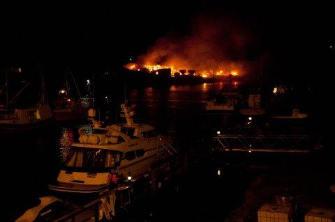 Brann hos Nova Sea på Træna