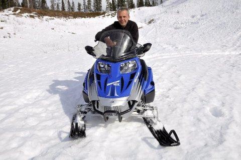 Lars-Egil Sætermo i Rana snøscooterforening er fornøyd med forslaget som nå legges ut på høring.