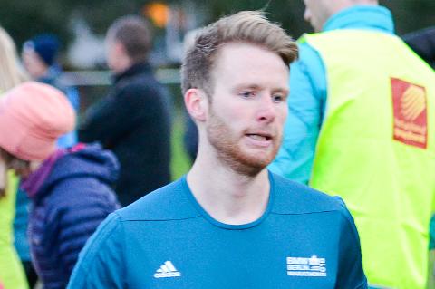 Emil Sorsell er brukbart fornøyd med gjennomføringen av Frankfurt maraton.